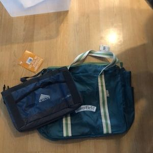 Unused Chico bag and 1/2 cooler